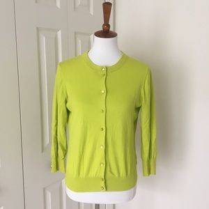 🆕J.Crew The Clare Cardigan - key lime